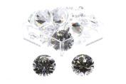Birth Stone Jewels 10 mm Diamond White Round Brilliant Cut Cubic Zirconia Gem Stones Pack Of 2