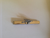 F27 Small Fly English Pewter emblem on a Tie Clip (slide) Handmade in sheffield comes with PrideInDetails gift box