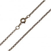 Antiqued Brass Fine Rolo Chain Necklace - 2mm Diameter Links 16 Inches Long