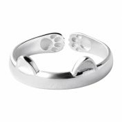 Cat Ear Claw Open Ring Silver