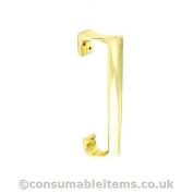 Securit 225mm polished brass oval door pull handle.