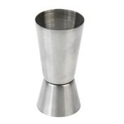 TRIXES Stainless Steel Spirit Measuring Cup Jigger Dual Measure 50ml/25ml