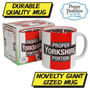 PROPER YORKSHIRE GIANT TEA MUG - Huge XL Coffee Cup - Kitchen Office Home Gift