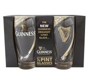 Guinness Half Pint 2 Pack Glasses - Livery Design