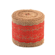 eZthings® Decorative Designer Fabric Ribbons for Home Craft Projects and Gift Baskets (3 Yard, Red