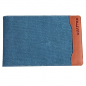 Global Art Materials Hand-Book/Quattro Canvas Journal Holder, 14cm by 22cm , Steel Blue