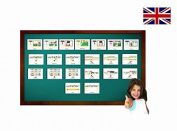 Calendar and Days of the Week Flashcards - English Vocabulary Cards