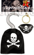 Pirate Hook, Eye Patch, Earing Kids Costume Accessory Pack