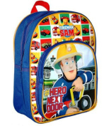Fireman Sam - New Design! Backpack / School Bag / Rucksack with Front Pocket