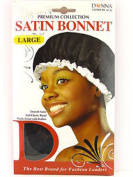 Donna's Premium Smooth Soft Elastic Satin Bonnet Works Great With Rollers