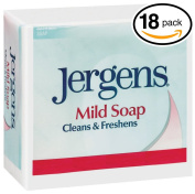 (PACK OF 18 BARS) Jergens ORIGINAL MILD Bar Soap. LUXURIOUS LATHER THAT LEAVE SKIN FRESH & CLEAN! All Natural Formula for Men & Women.