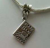 Beads Hut - Cookbook Book Cooking Kitchen Dangle Bead Fits Silver European Charm Bracelet