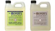 Mrs. Meyer's Liquid Hand Soap Refill, Lemon Verbena and Lavender, 33 Fluid Ounce Variety Pack