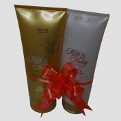 Oriflame Milk and Honey Gold Sugar Scrub with Shower Cream Gift set. By FEDEX/USPS