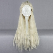 70cm Building Game of Thrones Cosplay Wig Daenerys Targaryen khaleesi Barbarian Bride Costume Women's Braided Long Curly Wavy Hair Wig