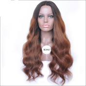 Brazilian virgin Grade 7A Human Hair Ombre Glueless Lace Front Wig with Baby Hair Full Lace Human Hair Wig For Black Women 200 Density