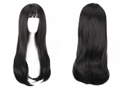 YX Women Slightly Curly Hair with Bangs Wig,Party/Cosplay wigs
