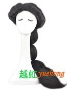 Yuehong Long Black Anime Cosplay Wig Classic Halloween Cosplay Full Wig