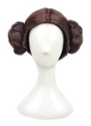 Yuehong High Quality Short Brown Wig With Two Buns Synthetic Hair Anime Cosplay Wigs