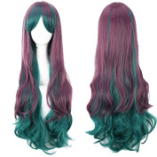 YX Harajuku Fashion Cosplay anime Wig Gradient for Women/Party Wigs