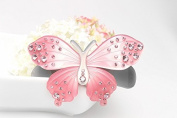 Exquisite Rhinestone butterfly hair clip Fashion Lovely Barrettes jewellery girl, Light pink