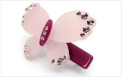 Lovely acrylic rhinestone butterfly hair clips new arrival Fashion crystal Barrettes hair accessories sweet women, Purple