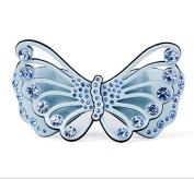 4 colours hollow wings acrylic rhinestone butterfly hair clips trendy summer jewellery barrette, Blue