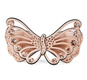 4 colours hollow wings acrylic rhinestone butterfly hair clips trendy summer jewellery barrette, Gold