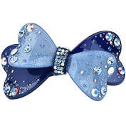 Elegant acrylic rhinestone butterfly hair clip Luxious pince cheveux crystal barrettes hairpins, Blue