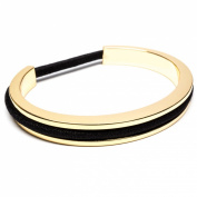 bittersweet by Maria Shireen™ - Hair Tie Bracelet - Classic Design - Steel Gold