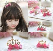 Joyci Infant Girl's Diamond Crown Hair Pin Princess Hair Clips Kids Party Hair Accessory