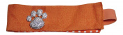 Rhinestone Paw Print Orange Fabric Stretch Headwrap Headband Sports