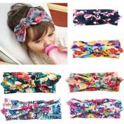Joyci Baby Girl's Elastic Hair Hoop Headband Knot Rabbit Headwear Bow Printing
