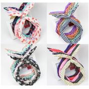 Casualfashion 6Pcs Women Korean Bow Hairband Twisted Knotted Hair Band Headband Head Wrap