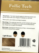 Light Brown Keratin Hair Building Fibres 57 grammes Refill Your Existing Bottle, Made In The USA