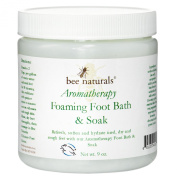 Bee Naturals Aromatherapy Foaming Foot Bath & Soak - Refreshing Foot Soak for Tired, Cracked and Aching Feet - 270ml