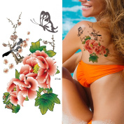 Supperb® Temporary Tattoos - Flowers in Chinese Painting