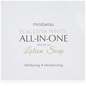 Mosbeau Placenta White Premium Facial Lotion Soap - Placenta Protein and Moisturising Ingredients have Anti-Ageing and Skin Brightening Effects. New 2015 Formula from Japan