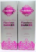 Fake Bake Flawless DARKER - Luxurious Deeper Bronze - Self Tan Liquid & professional Mitt - 180ml - Set of 2