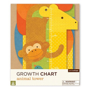 Petit Collage Folding Growth Chart, Animal Tower