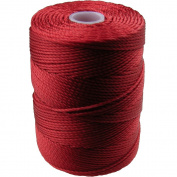 C-LON Bead Cord, Shanghai Red- .5mm, 92 Yard Spool