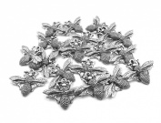 Set of Twenty (20) Silver Tone Pewter Queen Bee Charms