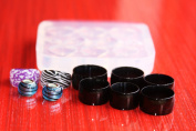 Multi-Clear-silicone Ring Moulds 8pc,size multi-colour-{7}{8},black{7}{8}{9}{10.5}{11.5}{13}+2 European style beads.