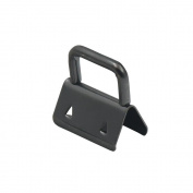 Bluemoona 20 Pcs - 1 Inch 25mm Key Fob Hardware Wristlet Set Wrist Gunblack