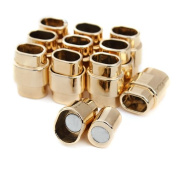 Linsoir Beads F2043 Gold Plated Magnetic Clasps Jewellery Accessories Connector for Necklace Bracelet 6.5x10mm Pack of 10