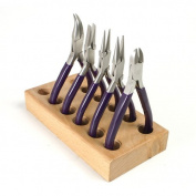 Purple Jewellery Pliers Set of 5 on Block Holder - SFC Tools - KIT-4600