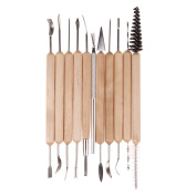 MMdex 11pcs Clay Sculpting Set Wax Carving Pottery Tools Shapers Polymer Modelling