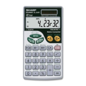 "Sharp El344rb Metric Conversion Travel Calculator . 44 Functions . 10 Character(S) . Lcd . Solar, Battery Powered . 7.1cm X 0.5cm X 0"" . Silver ""Product Type"