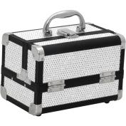 JustCase M1001 Mini Makeup Cosmetic Train Case Organiser Storage, Krystal White