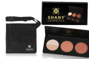 SHANY Cosmetics Contour & Blush for Light and Medium Complexion Makeup Kit, Ideal for Personal use or Gift, + SHANY Light Weight Cotton Makeup Apron with Makeup Artist Brush Belt,